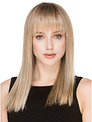 The New Animation Carved Blonde Long Straight Hair Wig