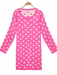Women's Print Blue / Pink / White  Sweaters , Casual Round Long Sleeve