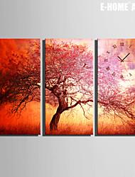 E-HOME® Tree Clock in Canvas 3pcs