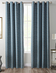 TWOPAGES Zac Collection Woodgrain Classic Diamond Soft Handfeel Panel CurtaIn Drapes (One Panel) Navy