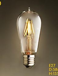 e27 4w st58led decoración café restaurante salón lámpara retro imitación edison llevó el bulbo de tungsteno