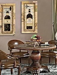 натянутым холстом современным европейским вино украшение бутылки живопись набор 2