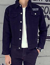 Men's Long Sleeve Jacket , Denim Casual Pure