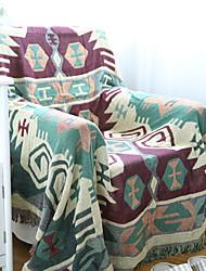 Couverture - 180*130 - en 100% Coton - Blanc / Vert