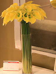 Plastique / Gel de silice Lis Calla Fleurs artificielles