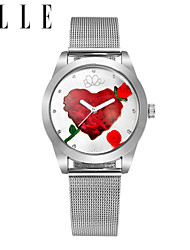 de nieuwe dame kwarts vrouwelijke delicate rozen harten dial horloge