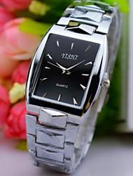 L.WEST Men's Steel Belt Pointer Square Quartz Watch Wrist Watch Cool Watch Unique Watch