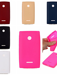For Nokia Case Shockproof Case Back Cover Case Solid Color Soft TPU Nokia Nokia Lumia 535