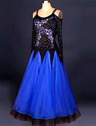 Ballroom Dance Dresses Women's Performance Chinlon / Crepe Crystals/Rhinestones / Embroidery 1 Piece