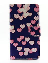 Pour Coque Huawei P8 Lite Portefeuille Porte Carte Avec Support Coque Coque Intégrale Coque Cœur Dur Cuir PU pour HuaweiHuawei P8 Lite