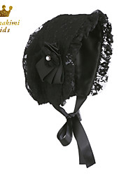 Lace Royal Baby Bonnet Handmade Black (Newborn - 3 Years)