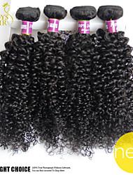 4 pc sacco indiano riccio crespo dei capelli non trattati vergini dei capelli umani di 100% tesse economici estensioni indiane dei capelli