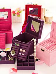 корейский стиль принцессы древесины двойные столы шкатулка (красный, фиолетовый, розовый) (1шт)