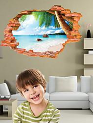 Botânico / Natal / Desenho Animado / Romance / Moda / Paisagem / Formas / 3D Wall Stickers Autocolantes 3D para Parede , PVC90cm x 60cm(