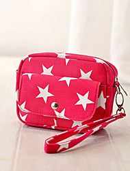 Lady's Fashion Retro Star Printing   Small Single  Shoulder  Canvas Package