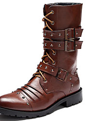 Men's Shoes Wedding / Party & Evening / Casual Synthetic Boots Black / Brown