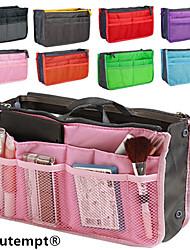 organizador de viajes portátiles malla multifuncional bolso cosmético del almacenaje del bolso del maquillaje de la mujer (8 de color elegir)