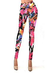 Retail wholesales  Faction Woman's Autumn High Waisted Print Multi-color Bootcut Pants