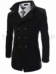 Повседневный - MEN - Пальто и жакеты ( Хлопок / Смешанная хлопковая ткань Как у рубашки - Длинный рукав