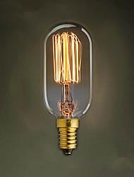 E14 40W T45 Straight Wire Edison Bulb Small Screw Wire Pendant Decoration Retro Light