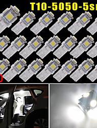 20x blanc pur 5 cms Wedge T10 168 194 2 825 Ampoule LED pour l'éclairage de plaque d'immatriculation