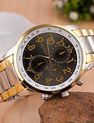 Women's Men's Unisex Fashion Watch Quartz Alloy Band Vintage Gold