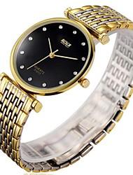 Men's  Watch BOSCK Gold Ultra Thin Alloy Chain Waterproof Watch