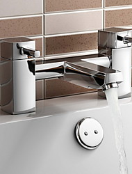 British System Bathroom Taps - Chrome Bath Filler Mixer Tap