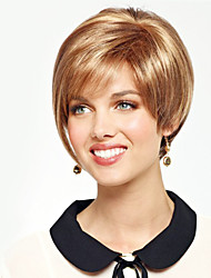 Wonderful Short Straight Human Virgin Remy Hand Tied Top Female Capless Hair Wigs