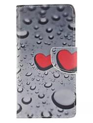 Voor Huawei hoesje / P9 / P9 Lite / P8 Lite Portemonnee / Kaarthouder / met standaard hoesje Volledige behuizing hoesje Hart Hard PU-leer