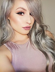 Glueless Hair Wigs Grey Brazilian Body Wave Lace Front Wigs Ombre Wigs With Baby Hair