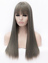 Europe And The United States The New Ms Gray Long Straight Hair Wigs
