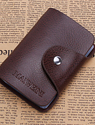 Unisex Cowhide Casual Card & ID Holder Brown / Black / Burgundy