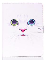 motif de chat blanc Standoff étui de protection pour iPad 2/3/4