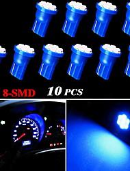 10x bleu coin t10 côté W5W 192 194 168 8-SMD conduit ampoule combiné d'instruments lumière