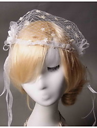 Women's / Flower Girl's Lace / Tulle / Net Headpiece - Wedding Birdcage Veils 1 Piece