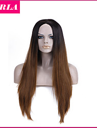 1PC Long Kanekalon Hair Wigs  Free Gift Cap U Part Wig Natural Heat Resistant 2 Tones Synthetic Ombre Wig