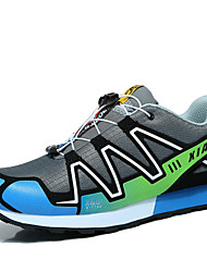 Hiking Shoes Men's  Leather / Tulle Black / Blue / Red