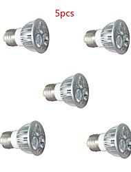 6W GU10 / E26/E27 Luz de LED para Estufas 3 LED de Alta Potência 450LM lm Vermelho / Azul Decorativa AC 220-240 V 5 pçs