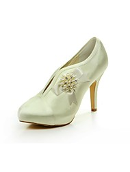 Women's Wedding Shoes Heels/Round Toe Heels Wedding Champagne/Gold/Silver/White/Ivory/Red/Black