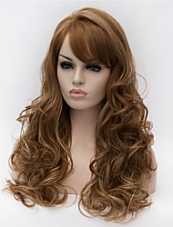 Europe And The United States The New Light Brown Curly Hair Wig Ms Highlights
