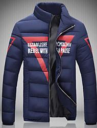 Dudian  Men's Hoodie Coats & Jackets , Cotton Blend Long Sleeve Casual / Work Fashion Winter / Fall Dudian