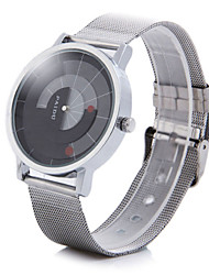 Paidu Brand Male Quartz Watch Japan Movt Rotational Round Dial Alloy Net Strap Wrist Watch Cool Watch Unique Watch