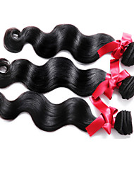 Malaysia Virgin Hair Body Wave Hair Weaving Top Grade 3pcs/lot #1B Color Malaysia Body Wave Hair Wefts