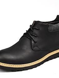 Femme-Extérieure / Décontracté / Sport-Noir / Taupe-Talon Plat-Bottes d'Equitation / Bottes à la Mode / Bottes de Moto / Travail &