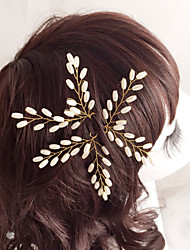 Women's Flower Girl's Imitation Pearl Headpiece-Wedding Special Occasion Hair Pin 3 Pieces