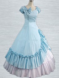 Classic Lolita Victorian Rococo Ruffled Cotton Long Dress Gown