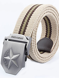 Men Canvas Waist Belt,Vintage / Casual Alloy All Seasons