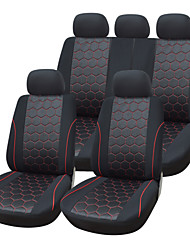 9 Pieces/Set Car Seat Covers Universal Fit Material Jacquard Material with 3mm Composite Sponge Auto Accessories