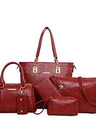 Schoudertas / Draagtas / Kaart/pasjeshouder / Muntenportemonnee / Make-uptasje / Mobile Phone Bag - Blauw / Bruin / Rood / Zwart -